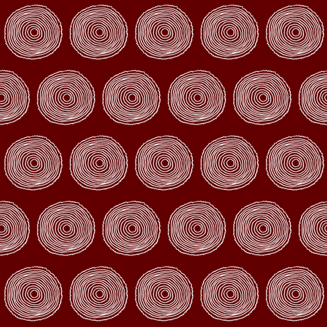 Dark Red Wood Rounds fabric by hudsondesigncompany on Spoonflower - custom fabric