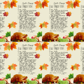 Oyster Stuffing Recipe Tea Towels_Miss Chiff Designs