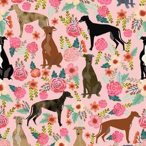 greyhound florals fabric cute brindle fabrics cute dog fabric best dogs vintage florals fabric cute dogs