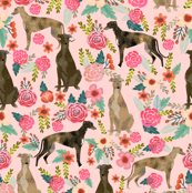 brindle greyhound fabric cute dogs fabric cute brindle vintage floral fabric cutes floral fabric