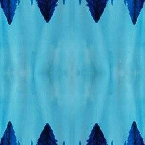 blue trees watercolor