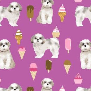 shih tzu purple ice cream fabrics cute purple dog design shih tzu fabric cute dogs best ice cream fabric