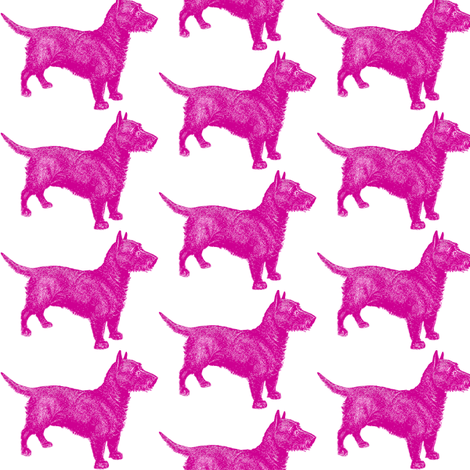Emily Haddyr Presents Royal Dog Party ~ Quick Walk 4 ~ Comtesse fabric by peacoquettedesigns on Spoonflower - custom fabric