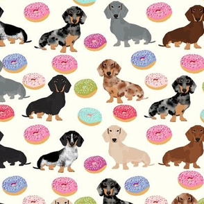 doxie dachshunds donuts cute dog fabric best dog fabric donuts dachshunds fabric doxie