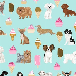 dogs dog fabric ice creams fabric cute dog fabric best ice creams fabric best dogs dog fabric mint pink dogs