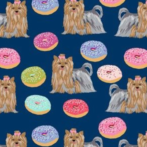 yorkie navy donuts fabric cute yorkshire terrier cute dogs fabric cute dogs fabric yorkie dogs fabric best yorkie donuts fabric best yorkie
