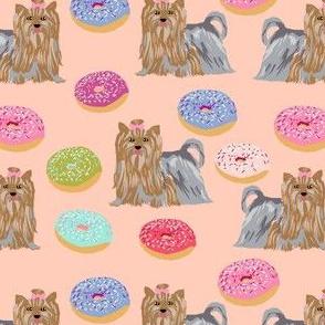 yorkie yorkshire terrier cute dog blush fabrics best dog fabric donuts fabric cute yorkie