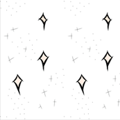Blush Stars Doodle