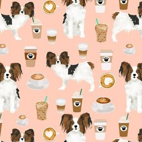 papillon dog coffee fabrics cute dog cafe latte fabrics dog fabric best blush coffee papillon dog fabrics