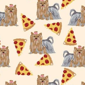 pizza fabric yorkie yorkshire terriers cute pizzas fabric cute dogs best fabric cute dogs fabric