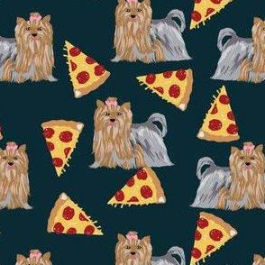yorkie dog pizza fabric cute yorkshire terriers cute dog dogs fabric best dog fabric yorkie dogs fabric best dog fabric