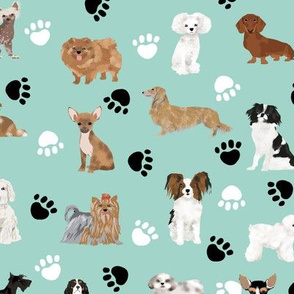 dog fabric mint dogs paws cute dog fabric black and white dog fabric cute dog breeds fabric