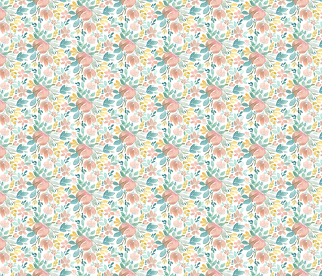 Small Floral Joy fabric by bluebirdcoop on Spoonflower - custom fabric