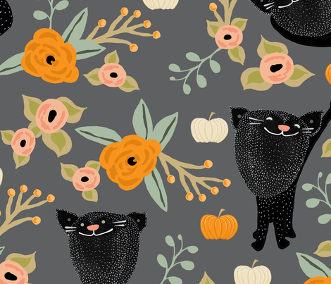 blackcats fabric by joslynndowd on Spoonflower - custom fabric