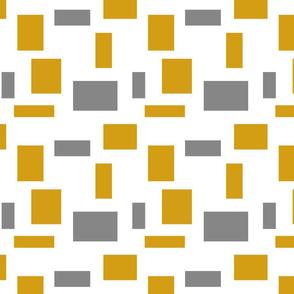 Gray Mustard Squares