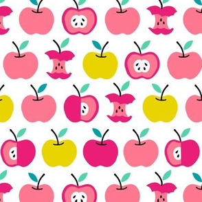 Back to school apples pink