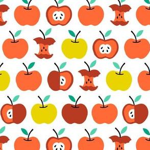 Back to school apples orange