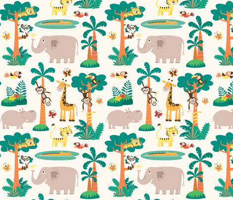 Jungle party fabric by crixtina on Spoonflower - custom fabric