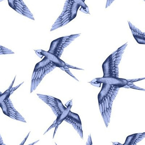 Swooping Swallow Indigo