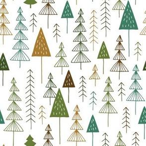 Winter adventure forest