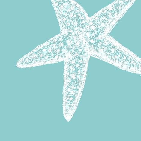 Tiffany Starfish Kiss fabric by saltyairdesign on Spoonflower - custom fabric