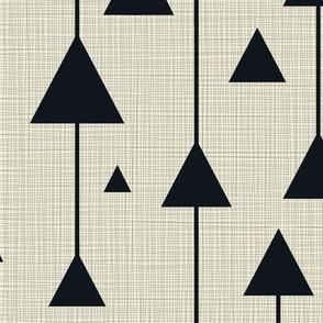 Triangles Black on Cream