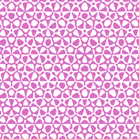 Star quasicrystal in pink and white fabric by weavingmajor on Spoonflower - custom fabric