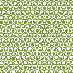 Star quasicrystal in moss green and white