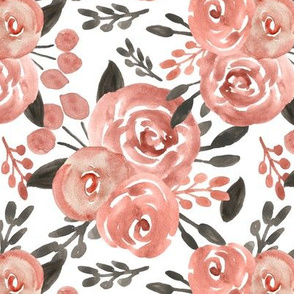 Pink & Gray Winter Florals