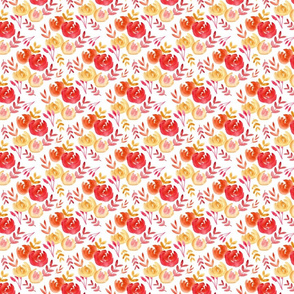 bright fall abstract floral