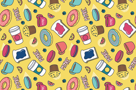Pop Art Breakfast fabric by khubbs on Spoonflower - custom fabric