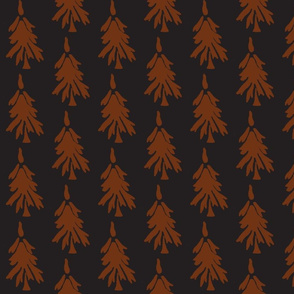 Forest Trees in Black