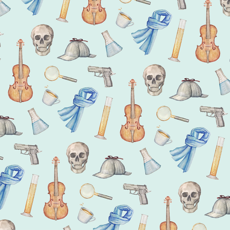 Sherlock fabric by shelby_bass on Spoonflower - custom fabric