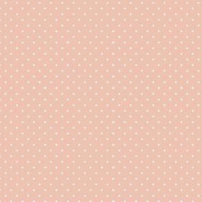 peach polkadot