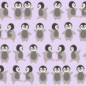 Just penguins on purple