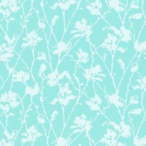Aqua White Lace