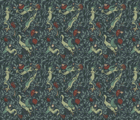 Deep diving fabric by tanaudel on Spoonflower - custom fabric