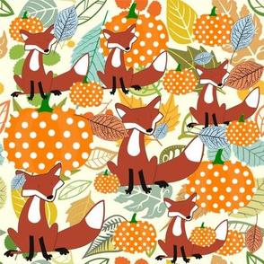 The Fall fox & pumpkins