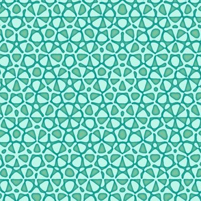starfish quasicrystal in surfing teal
