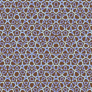 starry quasicrystal in summer brown and blue