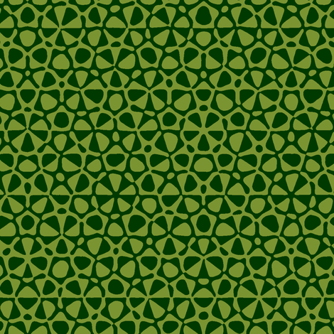 star quasicrystal in forest and moss green fabric by weavingmajor on Spoonflower - custom fabric