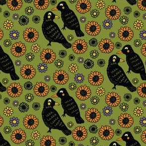 Ravens and Sunflowers, Harvest Design