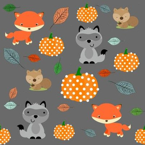 Woodland friends & pumpkins