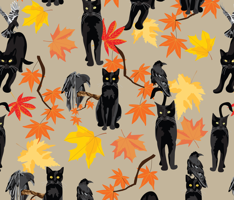 CatVRaven fabric by vieiragirl on Spoonflower - custom fabric