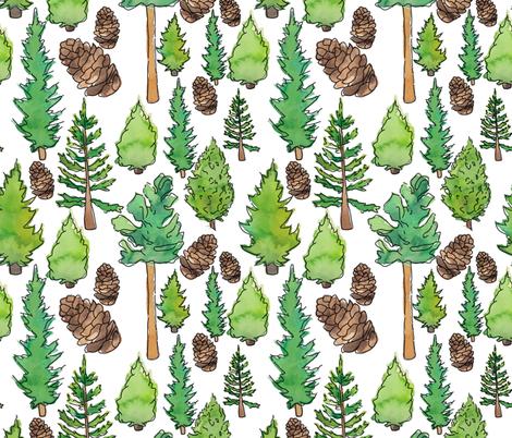Pine Life fabric by annmariedrury on Spoonflower - custom fabric