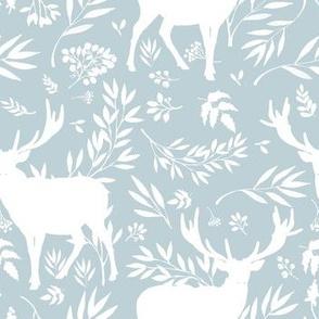 Deer Silhouette in Lilac