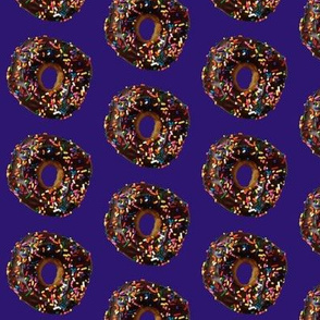 Chocolate Doughnut on Purple