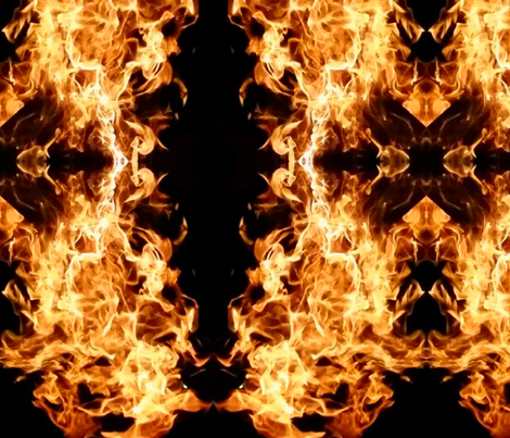Fire in the mirror fabric by jjcostumes on Spoonflower - custom fabric