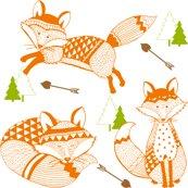 Rrrtk-geo_baby_foxes_love_arrows_orange_green_brown_shop_thumb