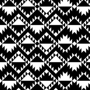 geo joe no.4 tribal aztec triangle geometric modern pattern
